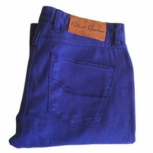 NEW Robert Graham Blue Pants Tailored Kipling Size 30